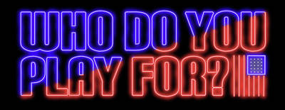 Sports Royalty-Free and Rights-Managed Images - Who Do You Play For Neon by Ricky Barnard