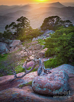 Clouds Rights Managed Images - Wichita Mountains Sunset Royalty-Free Image by Inge Johnsson