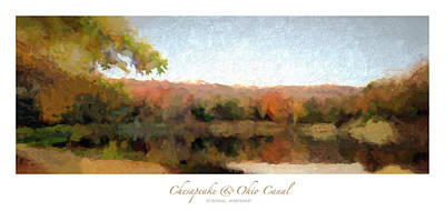 Wilderness Camping - Widewater Autumn Panorama Poster by Francis Sullivan