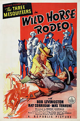 Royalty-Free and Rights-Managed Images - Wild Horse Rodeo, 1937 by Stars on Art