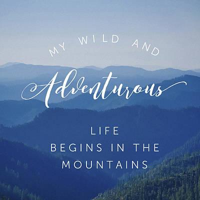 Modern Feathers Art - Wild Mountain Scene by Brandi Fitzgerald
