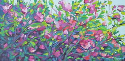 Painting - Wild Roses by Alison Newth
