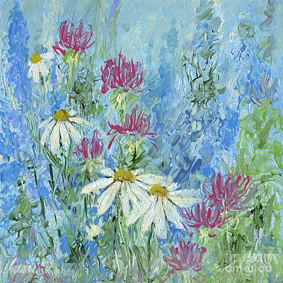 Painting - Wildflower Blues Garden Flower  by Laurie Rohner