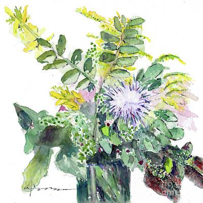 Painting - Wildflower Bouquet by Claudia Hafner