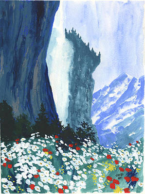 Granger - Wildflowers and a Waterfall by Taphath Foose