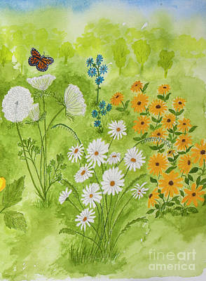 David Bowie Royalty Free Images - Wildflowers in the Garden Royalty-Free Image by Conni Schaftenaar
