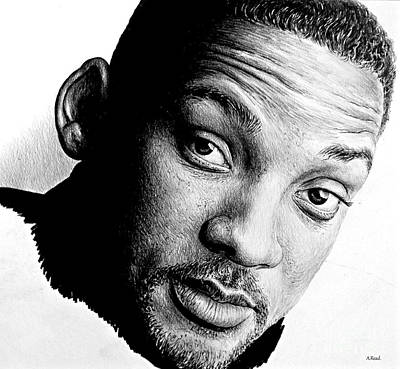 Musicians Drawings Rights Managed Images - Will Smith unfinished Royalty-Free Image by Andrew Read