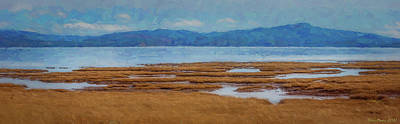Moody Trees - Willapa Bay 2-27-13 painting by Mike Penney