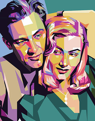 Digital Art - William Holden and Veronica Lake by Stars on Art