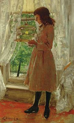 Travel - William Merritt Chase 1849 1916 The Pet Canary by Artistic Rifki