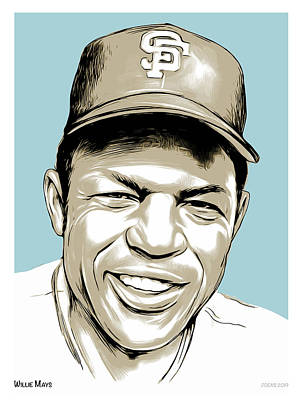 Weapons And Warfare - Willie Mays Line Art by Greg Joens