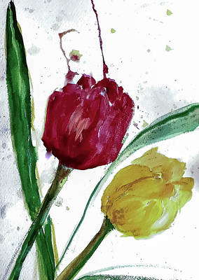 Keith Richards - Wind Splattered Tulips by Lisa Kaiser