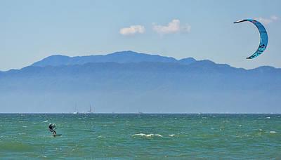 Impressionist Landscapes - Wind surfing in Nuevo Vallarta Mexico by Fernando Blanco Farias