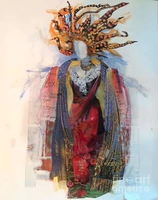 Mixed Media - Wind Woman at the Opera by Sandra Taylor-Hedges