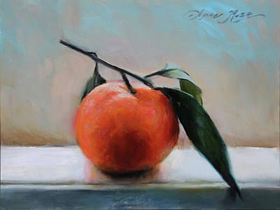 Painting - Windowsill Tangerine by Anna Bain
