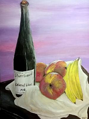 Studio Grafika Vintage Posters - Wine and Fruit by Irving Starr