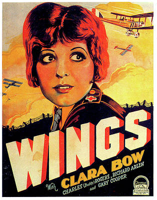 Mixed Media Royalty Free Images - Wings movie poster 1927 Royalty-Free Image by Stars on Art