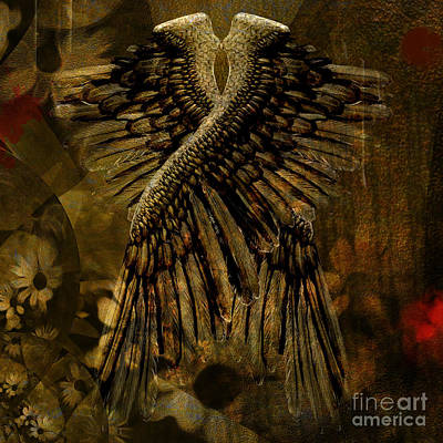 Surrealism Royalty Free Images - Wings of fallen angel Royalty-Free Image by Bruce Rolff