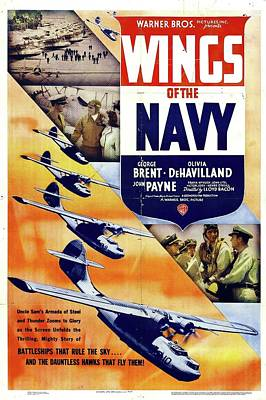 Royalty-Free and Rights-Managed Images - Wings of the Navy, with George Brent, 1939 by Stars on Art