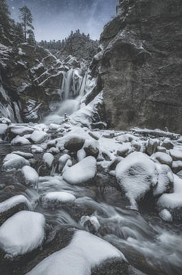 Royalty-Free and Rights-Managed Images - Winter At Boulder Falls by Darren White