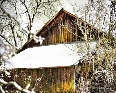 Jerry Sodorff Royalty-Free and Rights-Managed Images - Winter Barn DS by Jerry Sodorff