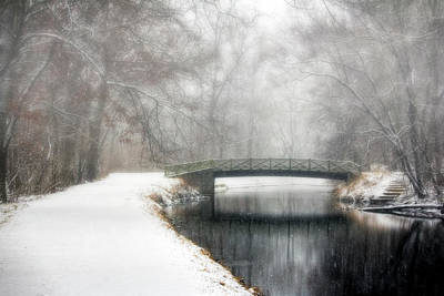 Priska Wettstein Land Shapes Series - Winter Bridge over Canal by Francis Sullivan