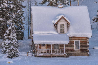 Royalty-Free and Rights-Managed Images - Winter Cabin by Darren White