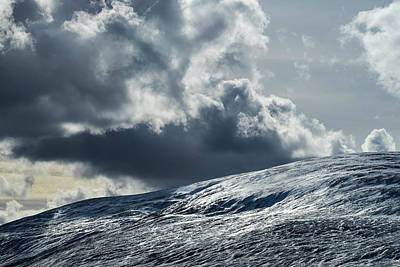 Photograph - Winter clouds over Cheviot by David Taylor