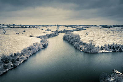 Clouds Rights Managed Images - Winter countryside Royalty-Free Image by Alexey Stiop
