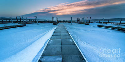 Royalty-Free and Rights-Managed Images - Winter Docks by Twenty Two North Photography