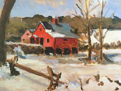 Susan Elizabeth Jones Royalty-Free and Rights-Managed Images - Winter Farm by Susan Elizabeth Jones