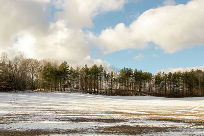 Photograph - Winter Field by Exploration Project