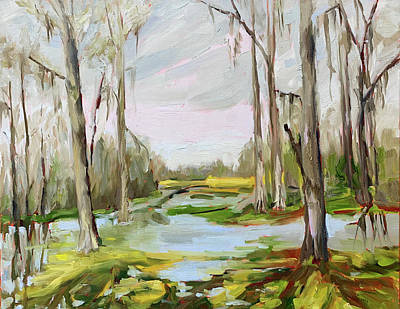 Painting - Winter Flood at Brookgreen by Bart Levy