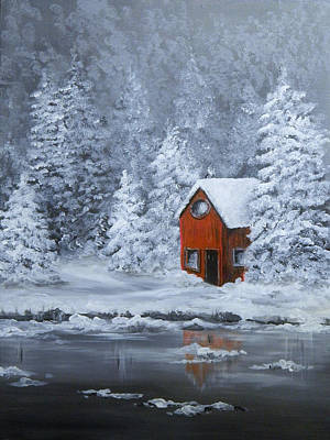 Painting - Winter Hideaway by Judy Horan
