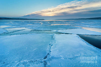 Royalty-Free and Rights-Managed Images - Winter Icebergs in Onekama by Twenty Two North Photography