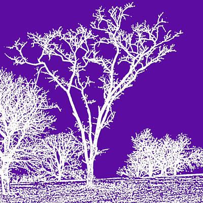 Belinda Landtroop Mixed Media - Winter in Purple by Belinda Landtroop