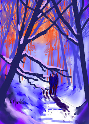 Painting - Winter Light by Glenn Marshall
