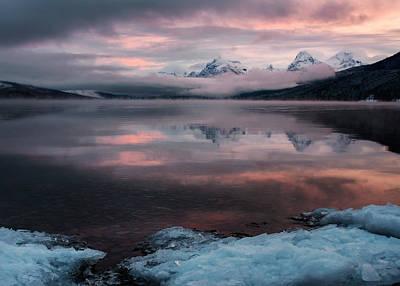 Beverly Brown Fashion - Winter Morning at Lake McDonald by Matt Hammerstein