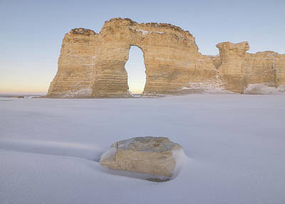 Royalty-Free and Rights-Managed Images - Winter Morning At Monument Rocks by Darren White