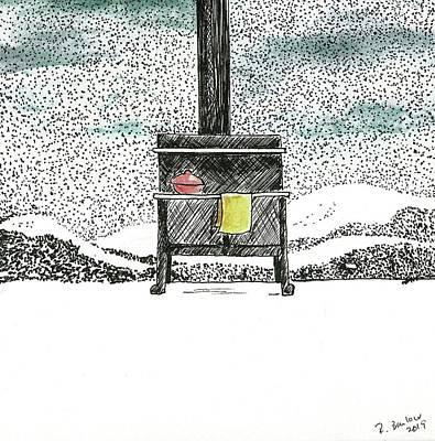 Drawing - Winter Nights by Rachel Barlow