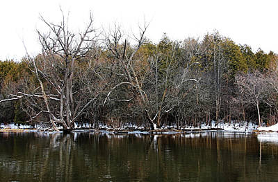 Vintage Pharmacy Royalty Free Images - Winter On The River Royalty-Free Image by Debbie Oppermann