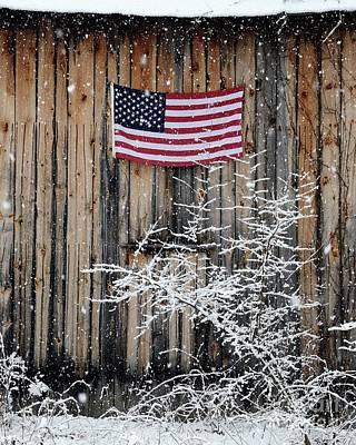 Thomas Kinkade - Winter Patriot by Robert Buderman