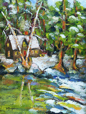 Painting - Winter Retreat by Mike Bergen