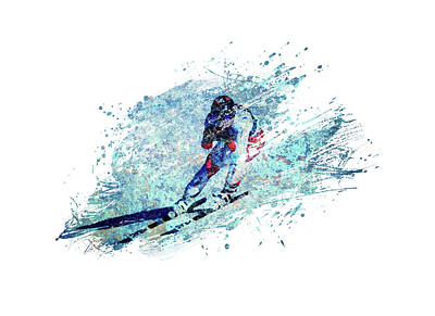 Sports Royalty-Free and Rights-Managed Images - Winter Ski by All Sport Art