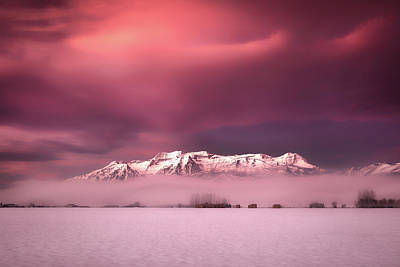 Royalty-Free and Rights-Managed Images - Winter South Fields Sunrise by Johnny Adolphson