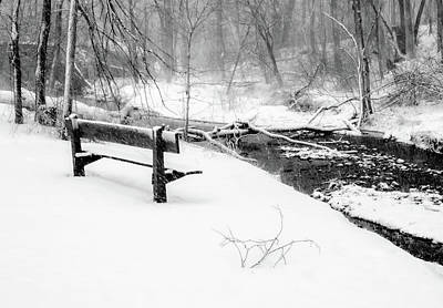 Photograph - Winter Storm Bw by Carl Simmerman