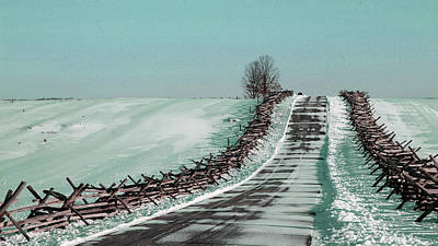 Surrealism Royalty-Free and Rights-Managed Images - Winter walk - Surreal Art by Ahmet Asar by Celestial Images