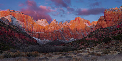 Royalty-Free and Rights-Managed Images - Winters Dawn panoramic by Brian Knott Photography