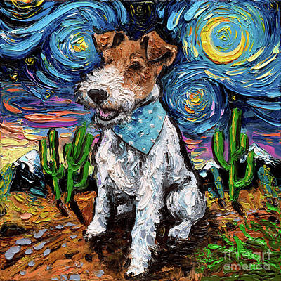 Painting - Wire Fox Terrier by Aja Trier