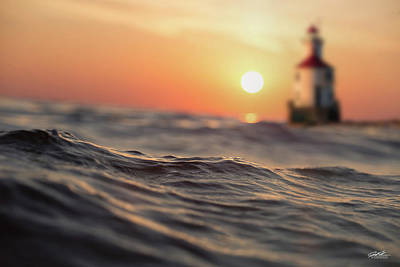 Photograph - Wisconsin Point Waves by Joe Polecheck